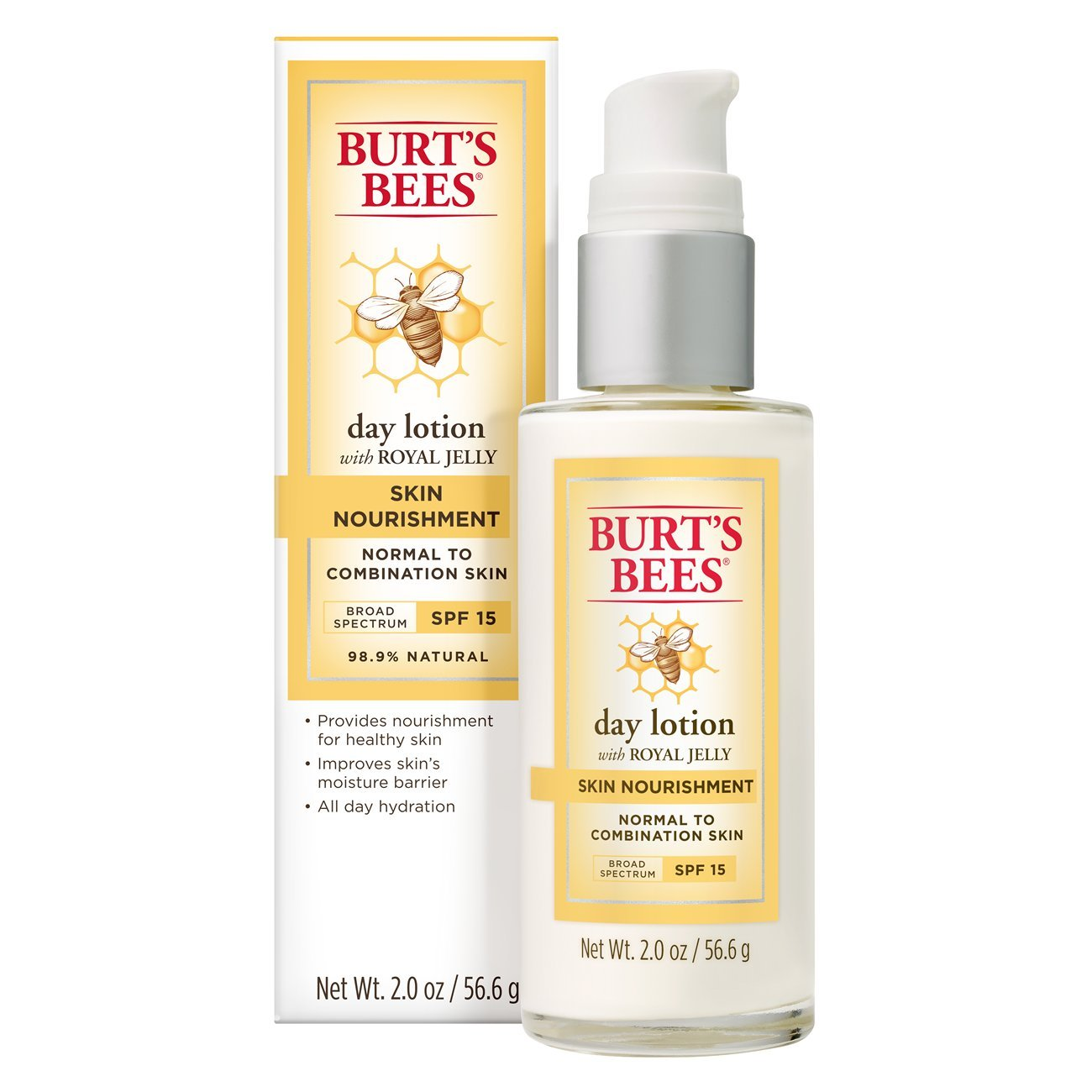 Burt's Bees Skin Nourishment Day Lotion with SPF 15, 2 Ounces Burt' s Bees Inc. 792850894952
