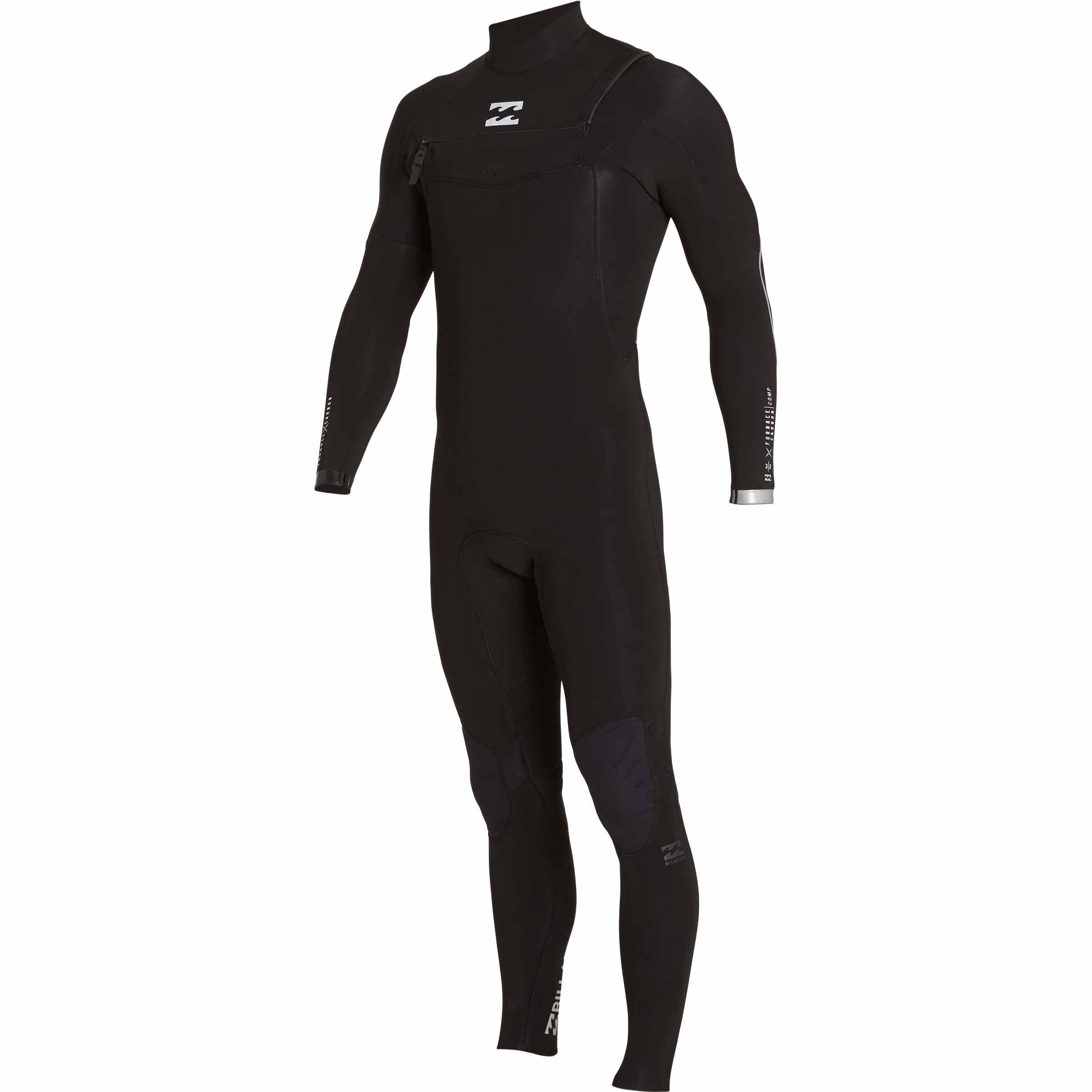 Billabong Men's 3/2 Furnace Carbon Comp Chest Zip Fullsuit Black X-Large