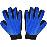 Hilltop Products 1 Pair - Pet, Dog, Cat Grooming Gloves. Pet Hair Remover Mitts. Massage Tool with Five Fingers Glove 1 Pair