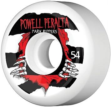 Powell Peralta Park Ripper Juego de 4 Ruedas de Skateboard Unisex, Color Blanco: Amazon.es: Deportes y aire libre