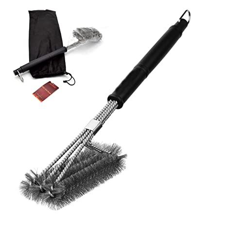 Amazoncom Stainless Steel BBQ Grill Brush 18 with 3 in 1 Wire
