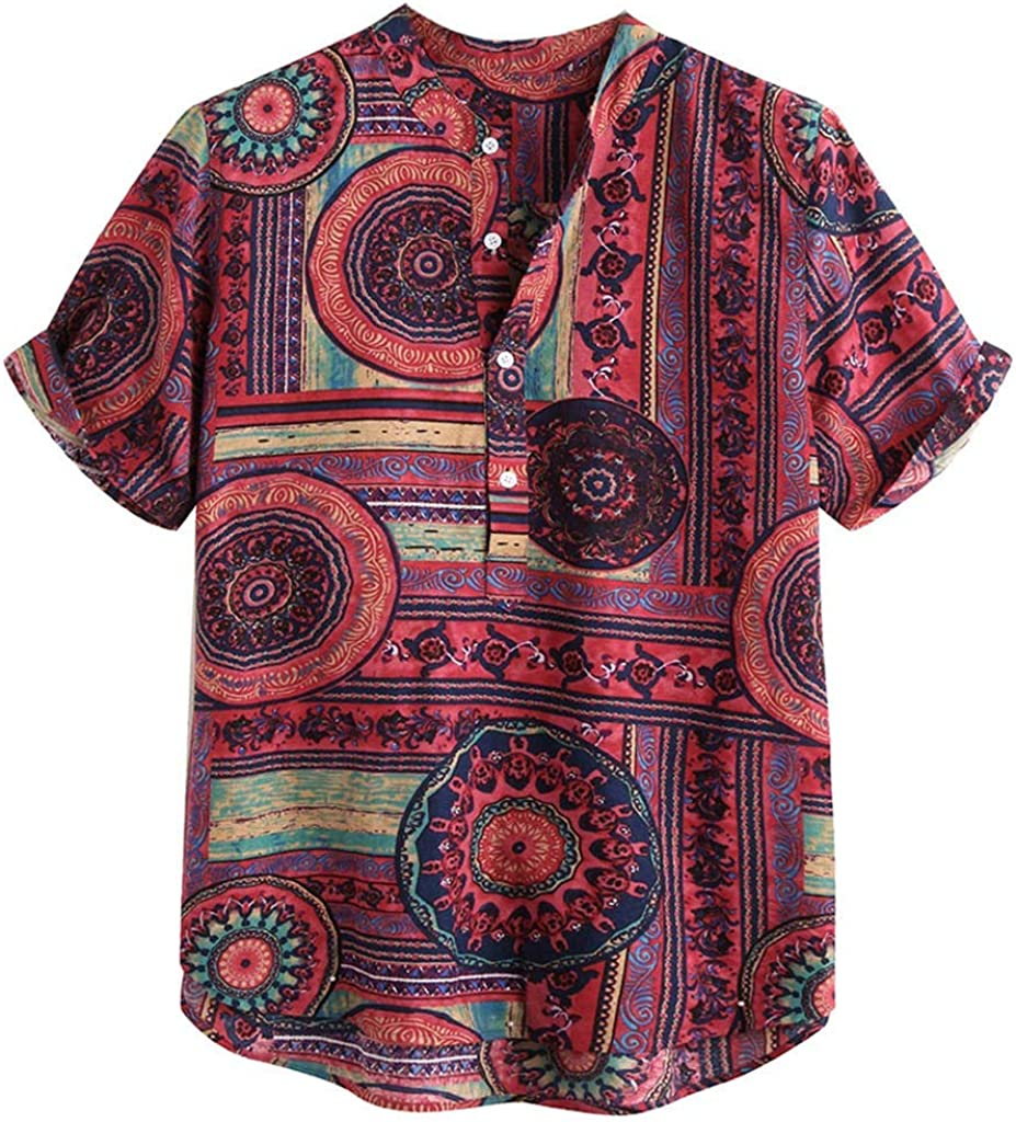 MOTOCO Hombre Manga Corta Camisa Regular tamaño Grande Camisas a ...