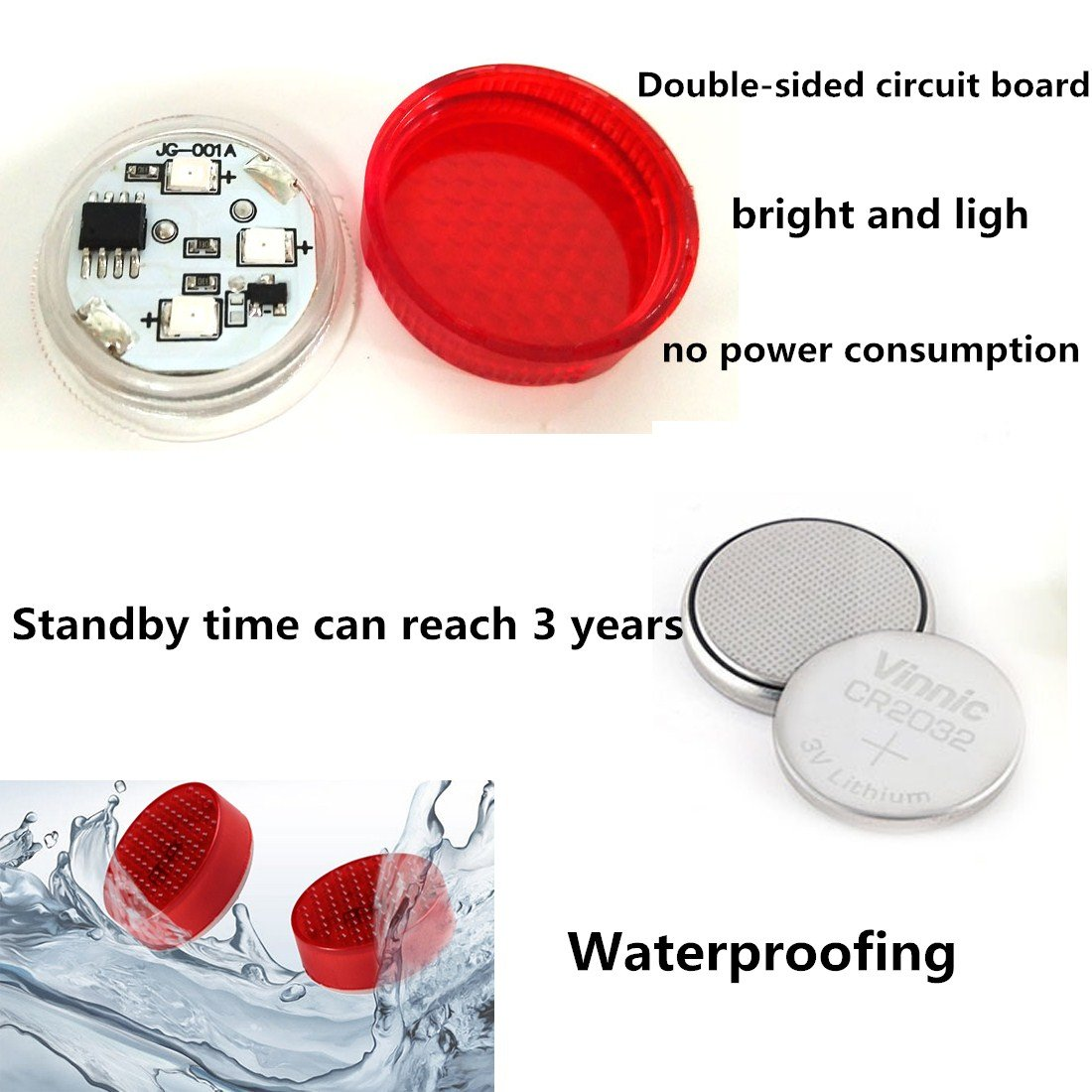 Amazon car door warning light with red strobe flashing led amazon car door warning light with red strobe flashing led open safety lights reflecto led lamps magnetic waterproof wireless universal red flash biocorpaavc