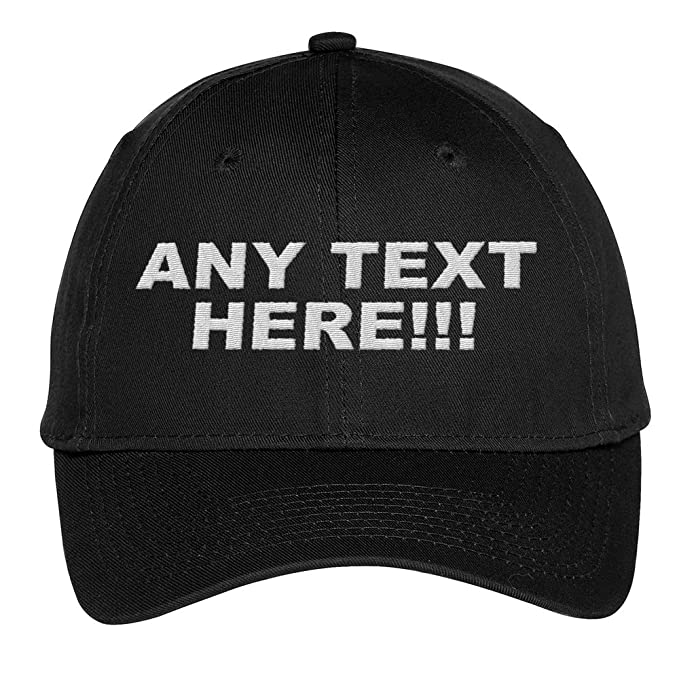 dfedce42 Design Your Own Hat, Personalized Text, Custom Ball Cap, Embroidered with  Color Choices