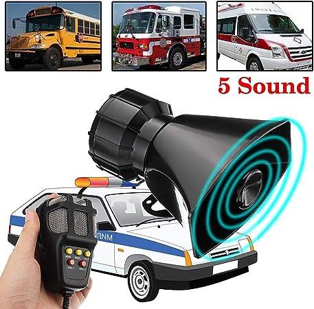 Motorrad Auto Alarm Ton Horn Polizei Sirene Horn Lautsprecher Feuerwehr megaphon