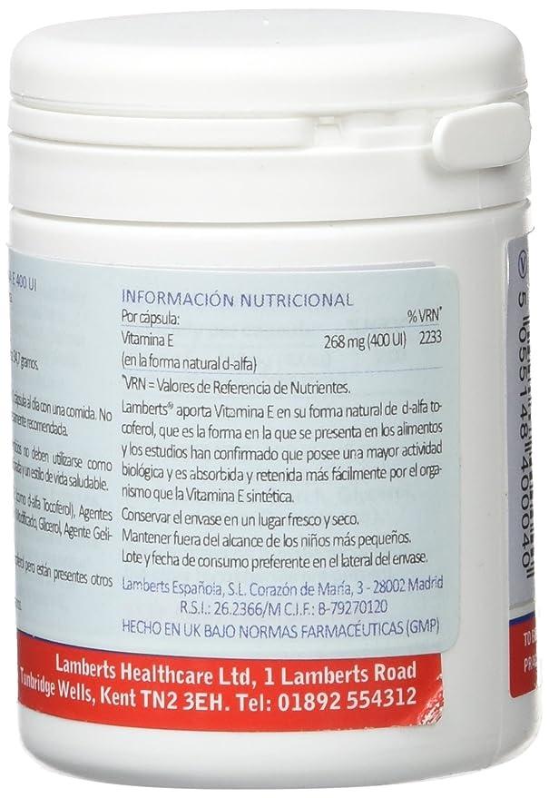 Lamberts Vitamina E, Natural 400UI - 60 Cápsulas: Amazon.es: Salud y cuidado personal
