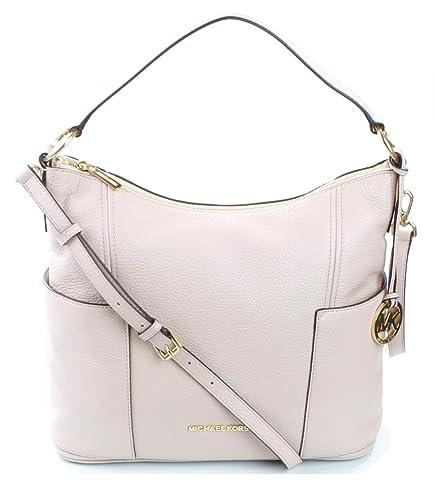 c8618d9af741 Michael Kors Anita Shoulder Bag Medium Handbag Pebbled Leather (Ballet) Soft  Pink RRP £