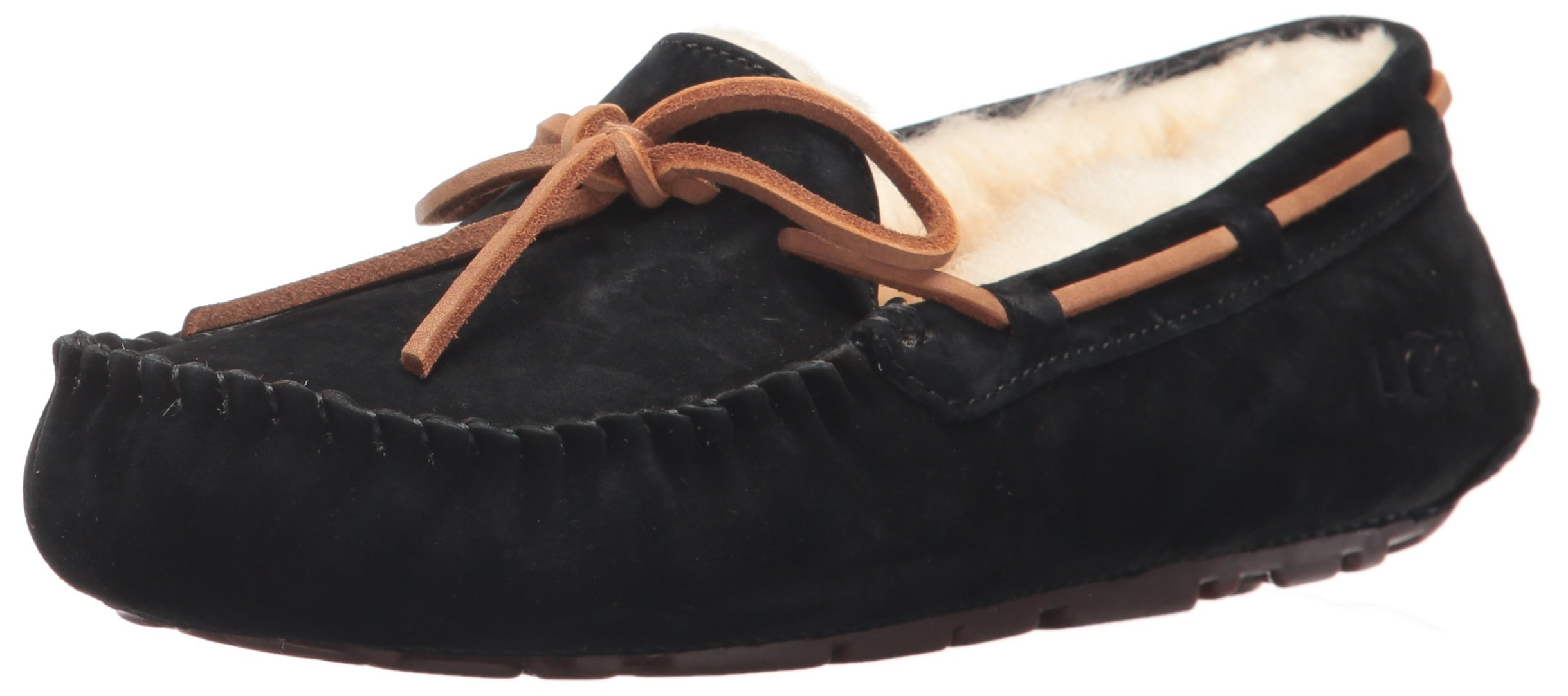 UGG Women's Dakota Moccasin, BLACK, 8 B US