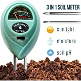 7Pros 3 in 1 Soil Tester Moisture Meter, Light and PH acidity Tester, Plant Care Tester for Garden, Farm, Lawn, Indoor & Outdoor (No Battery needed) Easy Read Indicator