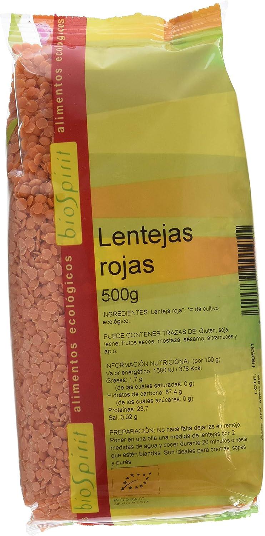 Biospirit Lentejas Rojas de Cultivo Ecológico - 500 gr ...