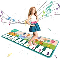 Coolplay Multifunction Music Piano Keyboards Mat, Electronic Music Carpet with 8 Instruments and 10 Keyboards