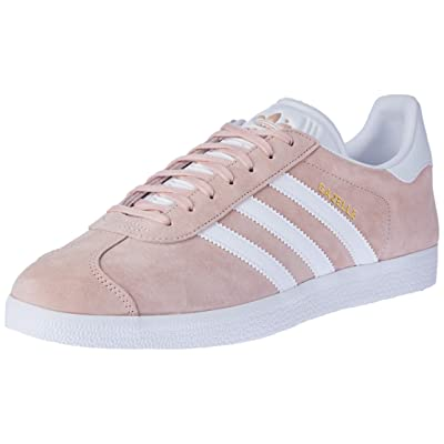 Amazon.com | Adidas Men Adults' Gazelle Low-Top Sneakers, Pink (Vapour Pink/White/Gold Metallic), 8.5 UK 42 2/3 EU | Fashion Sneakers