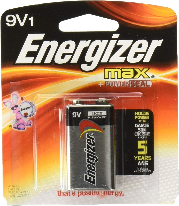 Energizer MAX Alkaline Battery 9 Volt 1 Each Pack of 6