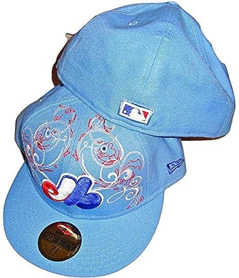 New Era Montreal Expos MLB OTT SkyBlue 5950 Hat Cap Size 7 1 8