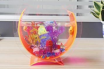 Acrílico resistente al trasera peces pequeños tanque acuario plantas ...