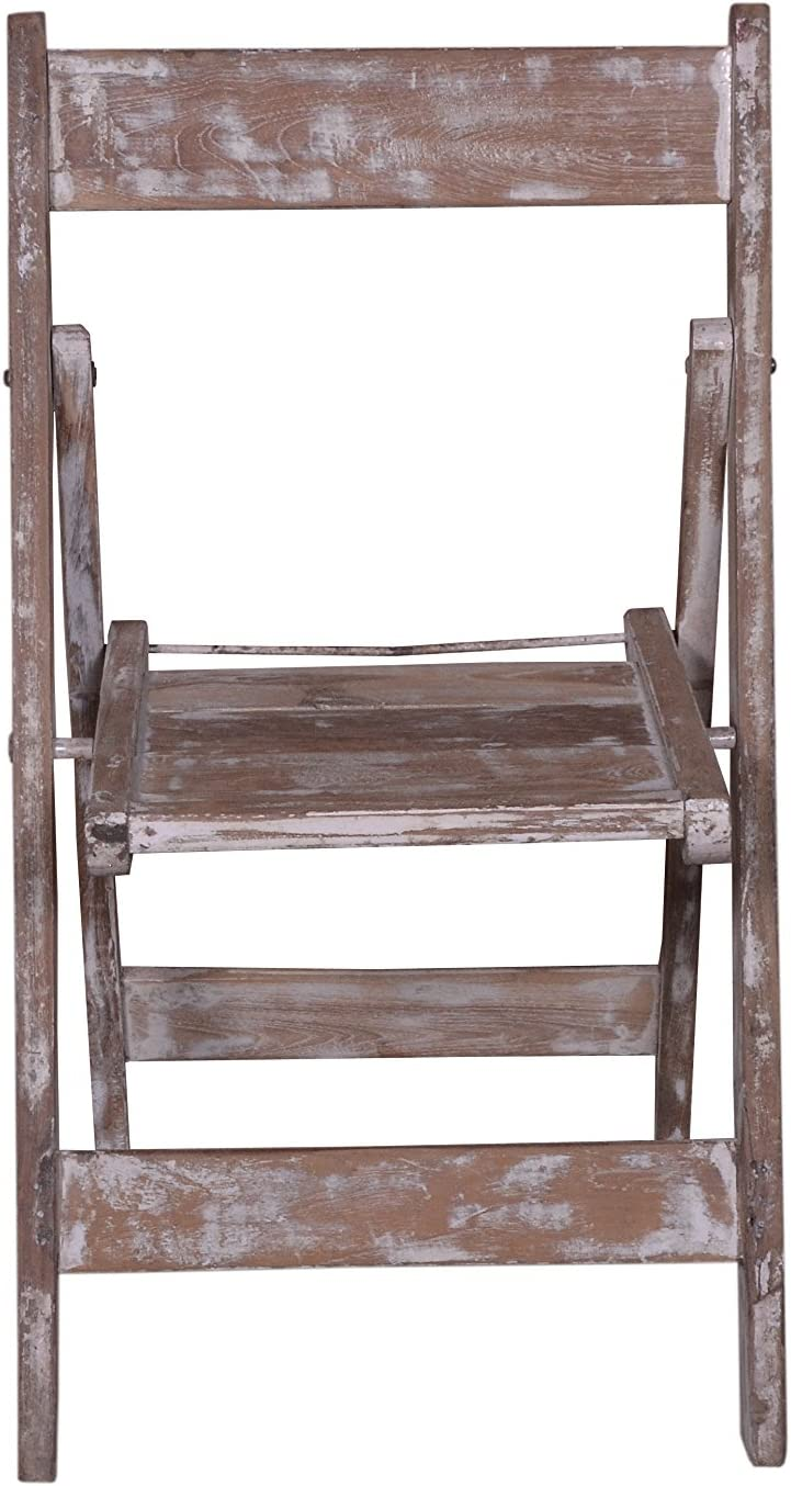 Designe Gallerie Morgan Rustic Style Wooden Folding Chair, Natural