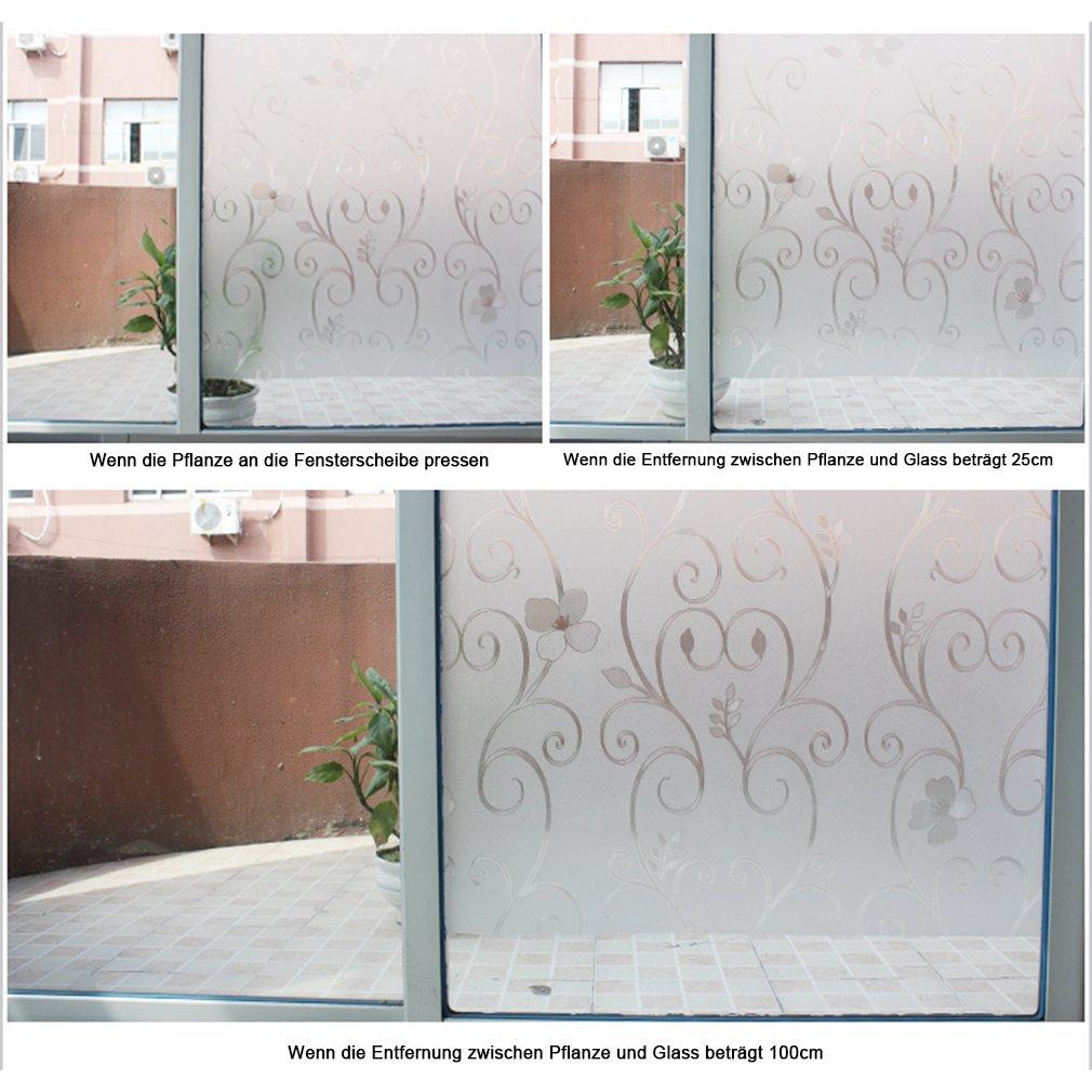 Kinlo 90 200cm Sichtschutz Selbstklebefolie Fensterfolie