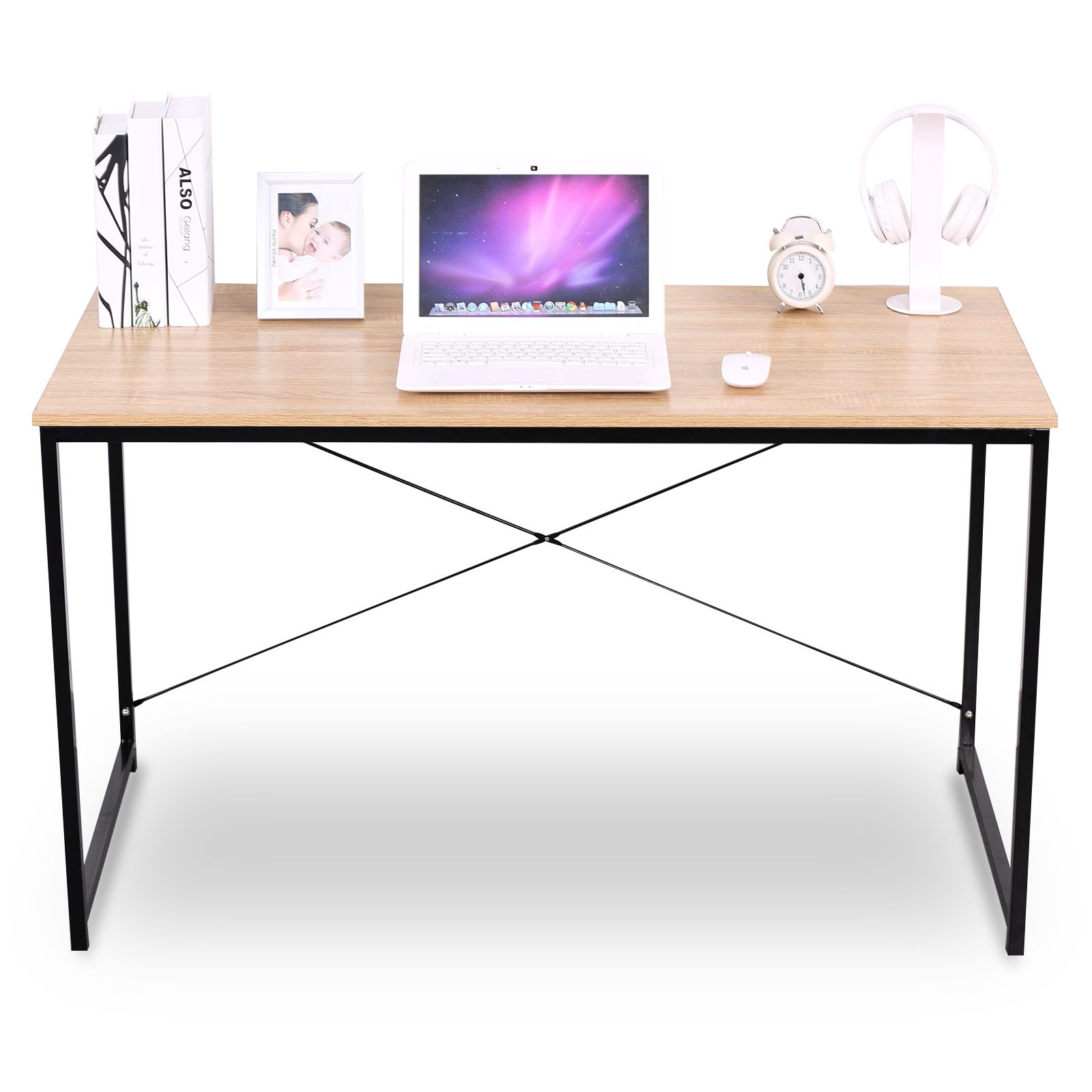 WOLTU Simple Design Black Wood Computer Desk Compact Laptop Table Personal Home Use