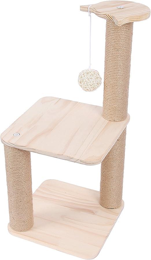 Conysan Árbol Rascador para Gatos con Poste Rascador Estabilidad con Columna de Sisal Natural,Grande,65 cm de Altura (Estilo 2): Amazon.es: Productos para mascotas