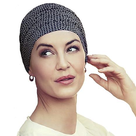 Christine Headwear Gorro Yoga con bambú Estampado Negro Beige para Mujeres en Tratamiento de quimioterapia