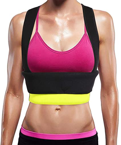 2aebd41c05 Ursexyly Cute Fat Burner Vest Slimming Shirt Neoprene Sauna Suit Waist  Trainer Tank Top for Women