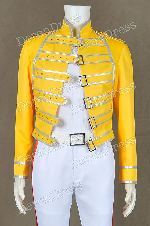 DEREN Queen Band - Chaqueta de Disfraz, diseño de Freddie Mercury ...