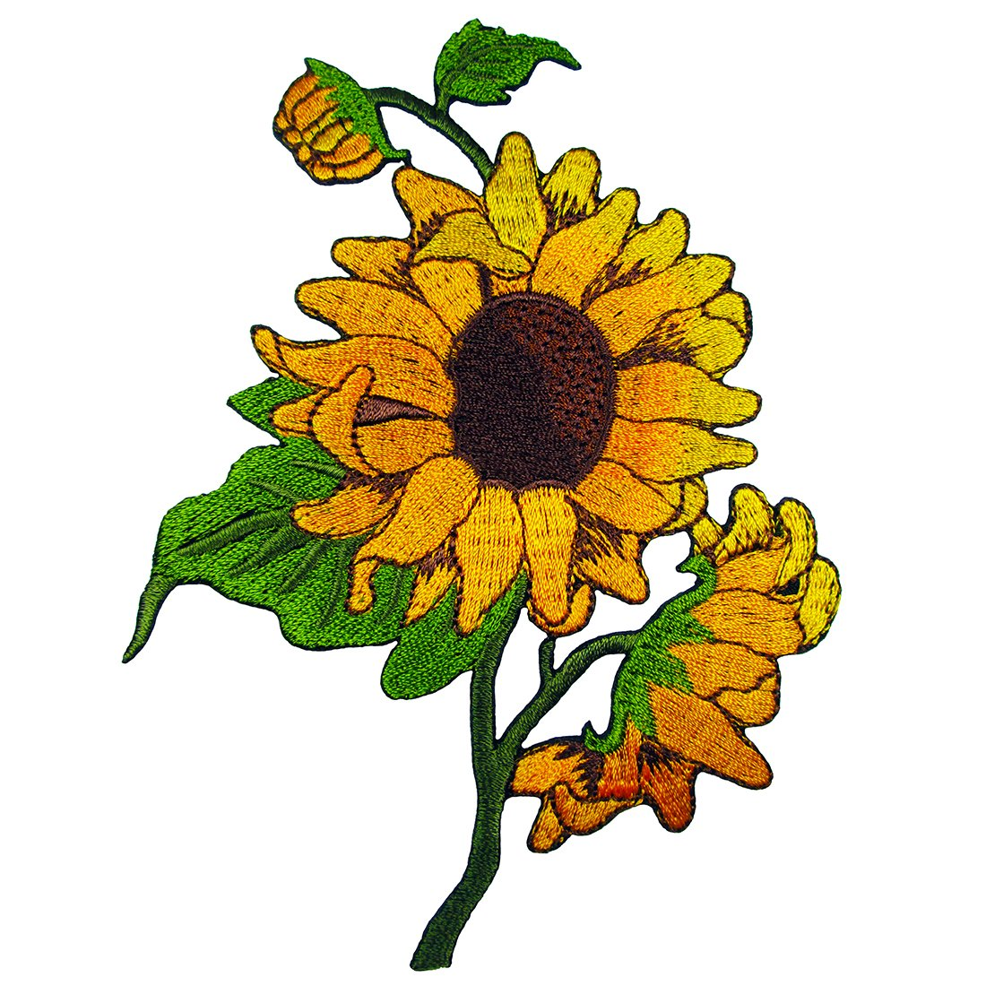 Sun Flowers Embroidered Iron on Applique Patches Happy Natt 4337020561