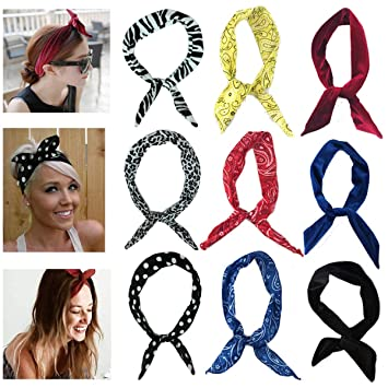 Mscolog Cute Headbands For Women, Twist Bow Wire Headbands For Workout Yoga Running Soccer Sports Head Band Hairbands For Women by Mscolog