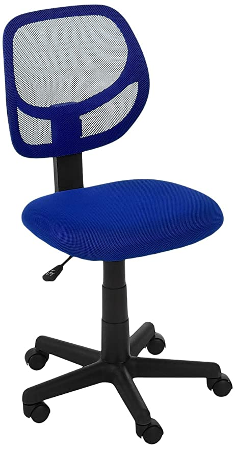amazon com amazonbasics low back computer chair blue kitchen