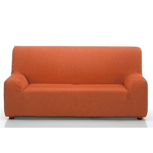 Jarrous Funda de Sofá Elástica Modelo Arucas, Color Naranja-7, Medida 3 Plazas – 180-230cm