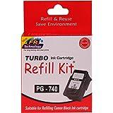Turbo Ink Cartridge Refill Kit for Canon pg 740 Black Ink Cartridge