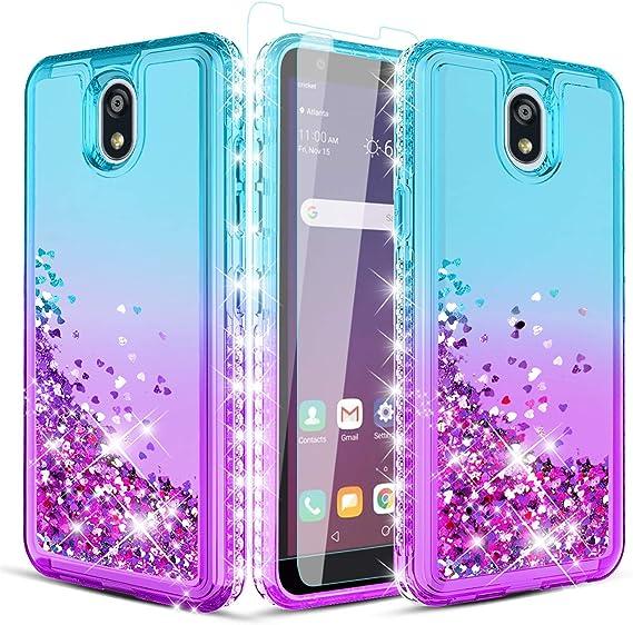 purple falling diamonds galaxy iphone case