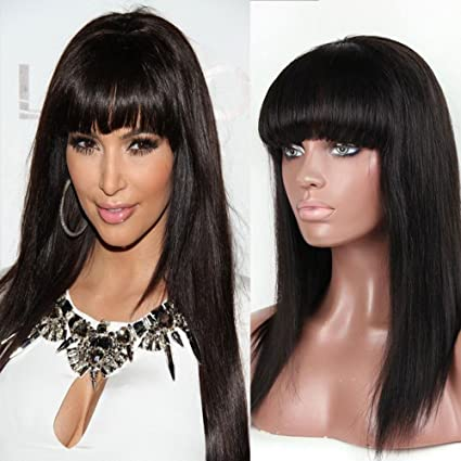 smhair Cabello humano pelucas para las mujeres negras, peluca Lace Front brasileño Virgen Pelo Recto
