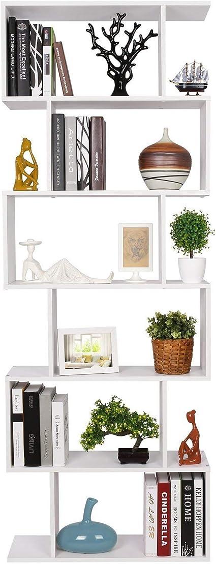 homfa bibliotheque etagere de livres etagere pour livres etagere de rangement en forme s pour bureau salon chambre d etude blanc