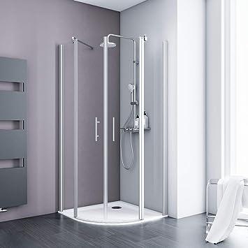 Schulte cabinas de ducha 90 x 90 Cuadrante Radius 500 redonda ...