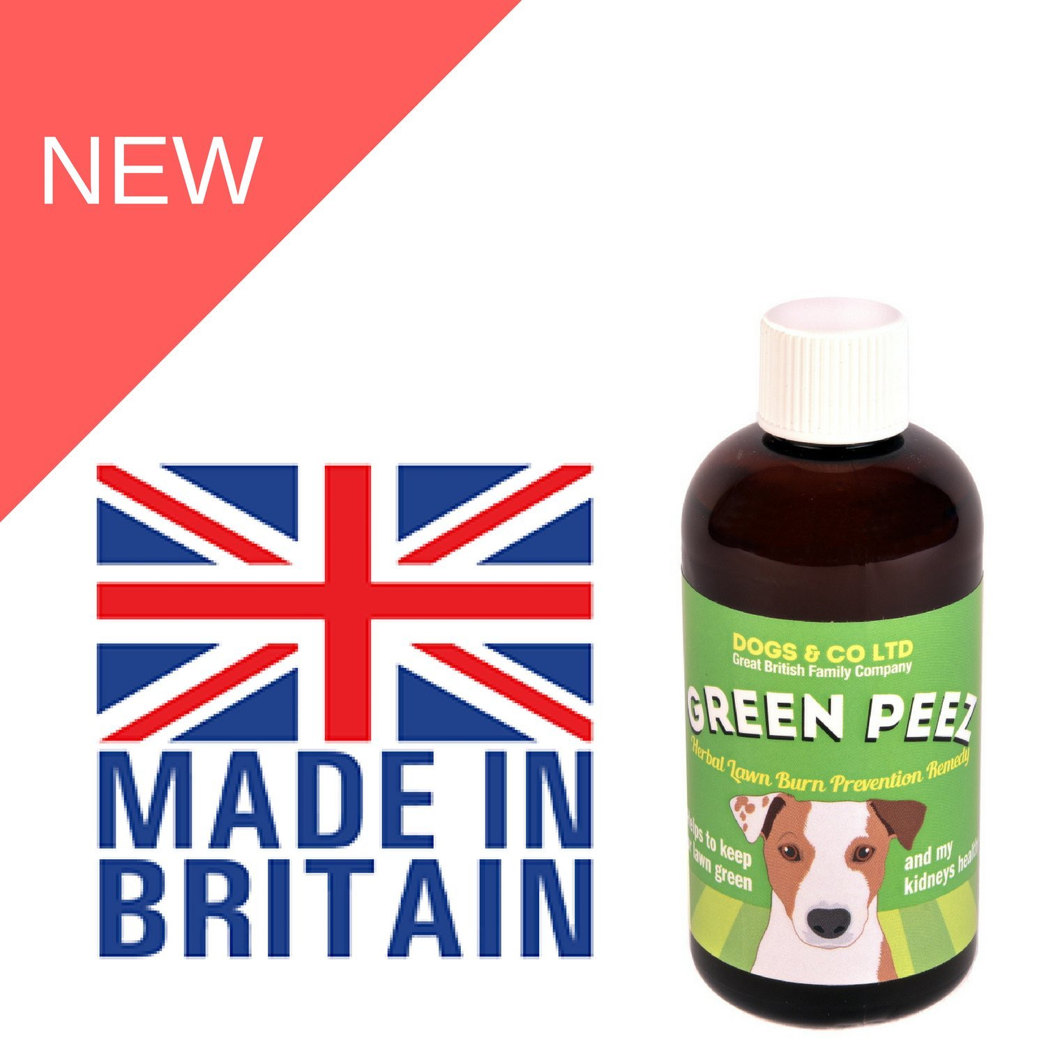 Green Peez. Lawn Burn Patch Prevention Saver for Brown or Burnt Grass Caused by Dog Urine. 100ml. Six month supply for medium dog. Add to Food.