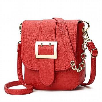 YTTY Sac à Bandoulière de Loisirs Des Femmes Sac à Bandoulière Messenger Bag Chaîne Petit Sac à Main de la Mode Des Femmes, rouge