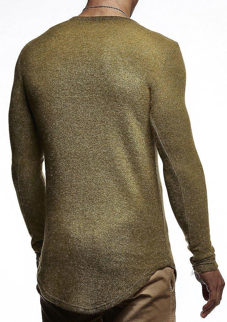 huge selection of d35a8 ce90a LEIF NELSON Herren Pullover V-Ausschnitt Slim Fit ...