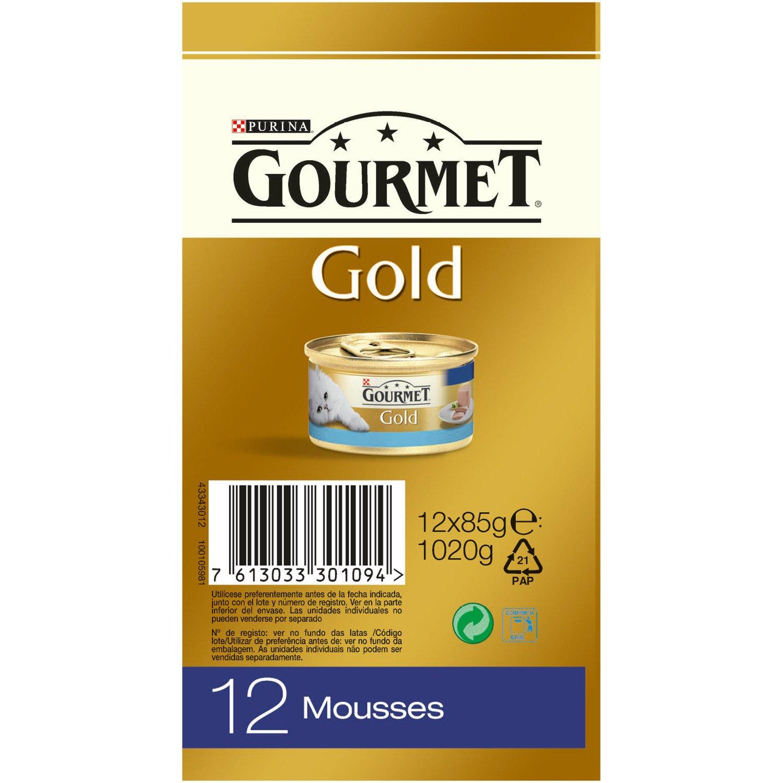 Purina Gourmet Gold Mousse Pack Pescado del Océano 12x85g: Amazon.es: Amazon Pantry