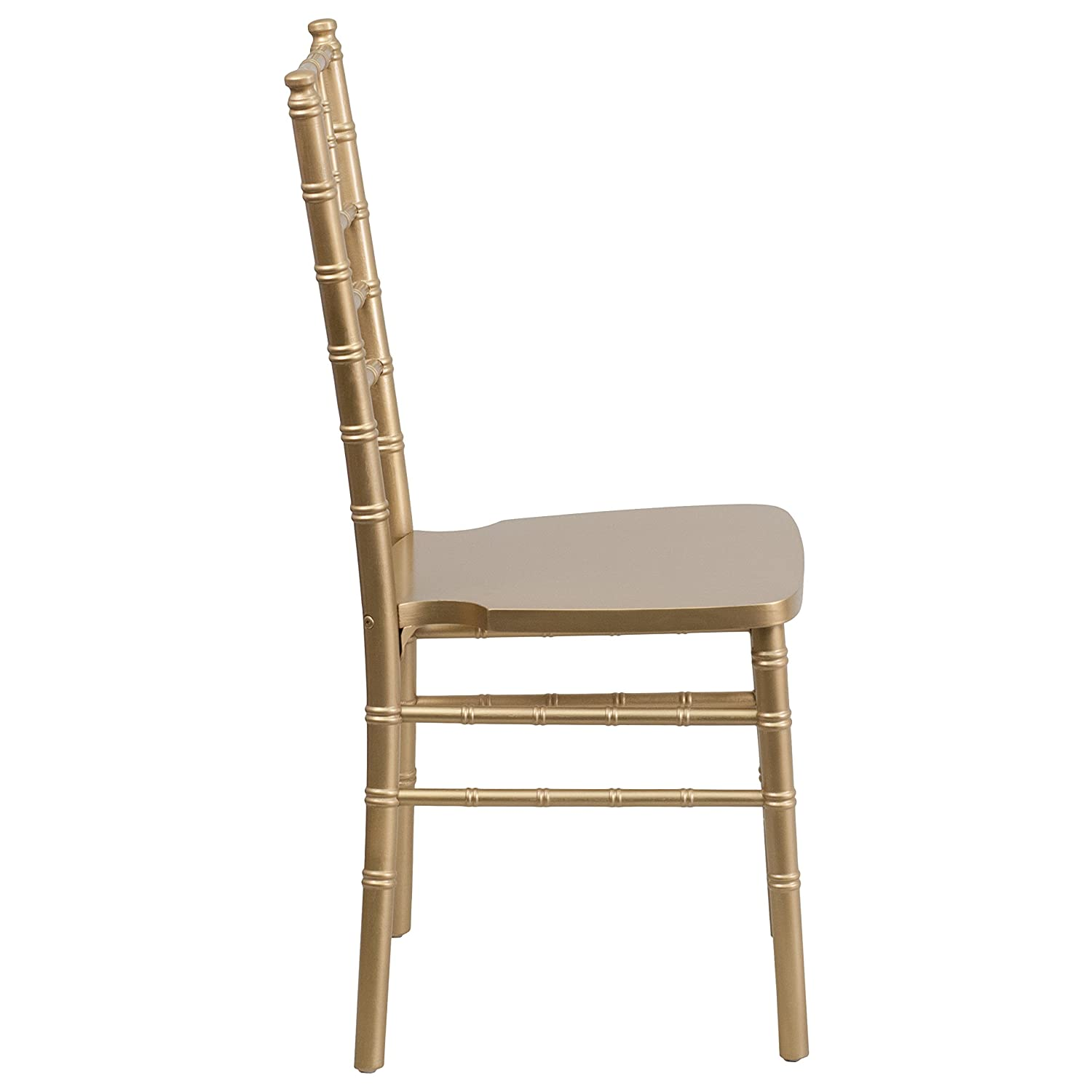 Amazon Flash Furniture HERCULES Series Gold Wood Chiavari