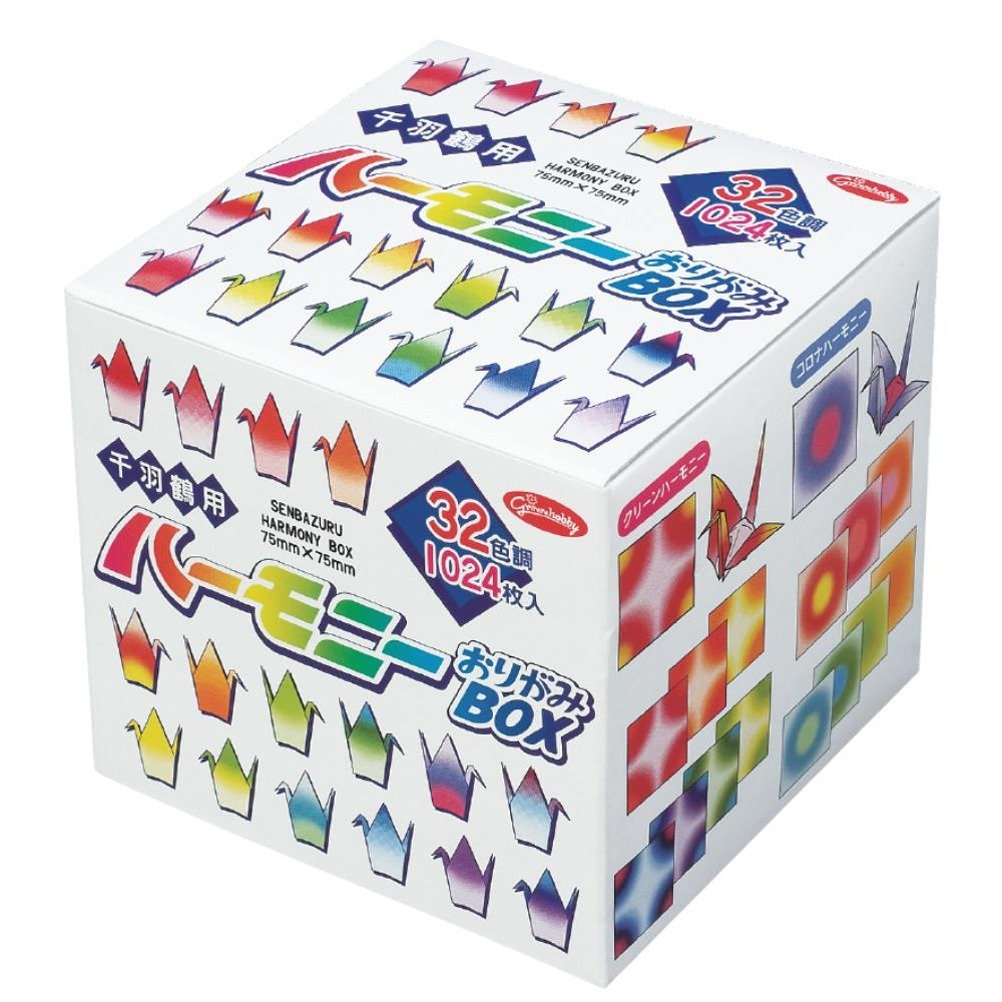 SENBAZURU Harmony Boxed Set of Origami Paper for Thousand Folded-Paper Crane(1024 Sheets) Aitoh 20-1023