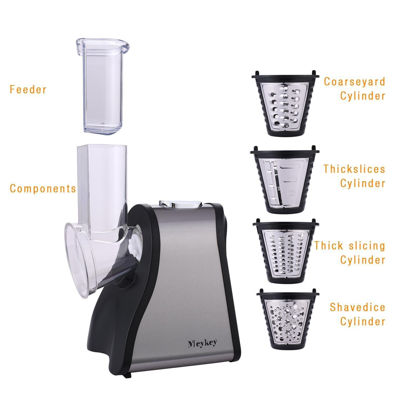 Lonlier Máquina para hacer Ensalada Eléctrica Máquina de Cortar Alimentos con 4 hojas de Cono para Frutas, Verduras y Quesos: Amazon.es: Ropa y accesorios