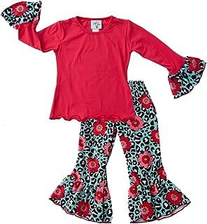 product image for Cheeky Banana Little Girls Minky Tee & Pants Set Size 4 Raspb. Aqua Animal Print