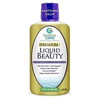 Liquid Beauty   Maximum Strength Hair, Skin & Nails Vitamin   12,500mcg Biotin,...