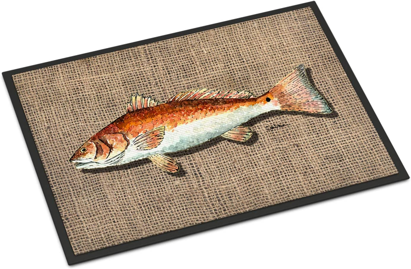 Caroline s Treasures 8736MAT Fish Red Fish Indoor or Outdoor Mat 18×27 Doormat, 18H X 27W, Multicolor