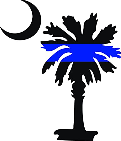 amazon com south carolina palmetto moon police thin blue line 5 rh amazon com palmetto tree clip art free