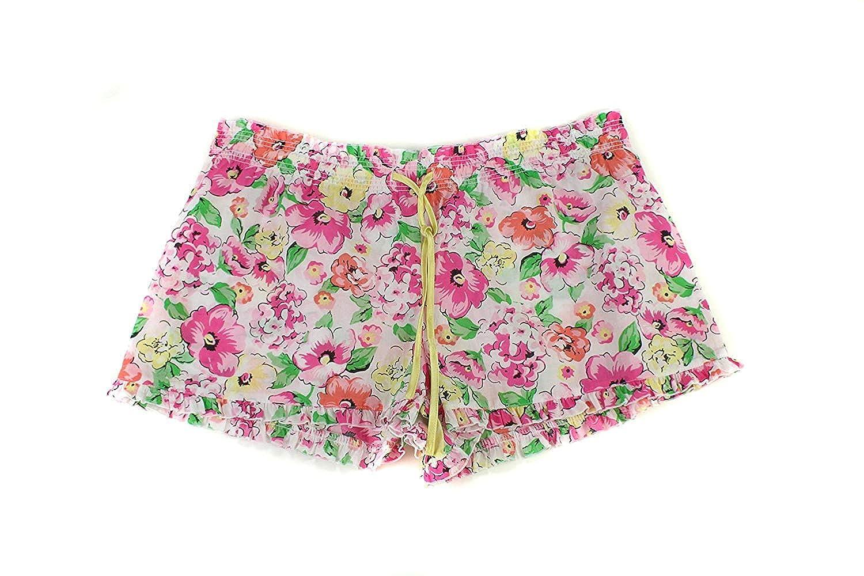 Multi Jenni Womens Floral Print Woven Sleep Shorts L