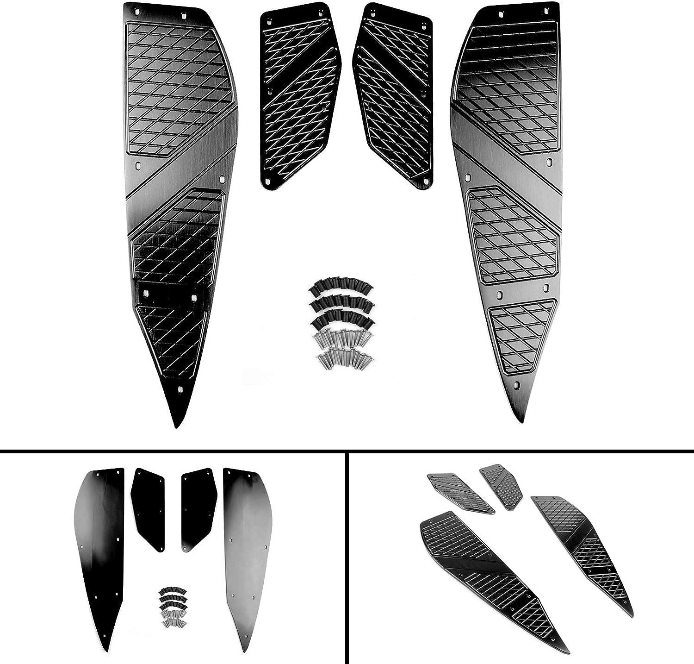 Artudatech Repose-pieds Avant Arri/ère P/édale Moto Repose Pied Moto Marchepied Plaque de Pied pour Yamaha XMAX 125 250 300 400 2017 2018