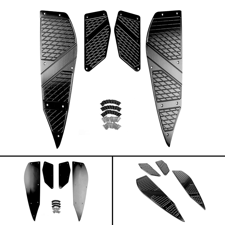 Artudatech Motorrad Hintere Front Fu/ßrasten Footpegs Fu/ßpedal Pad Trittbretter Abdeckung Foot Peg Plate Fu/ßrastenplatte F/ür Yamaha XMAX 125 250 300 400 RD 2017 2018