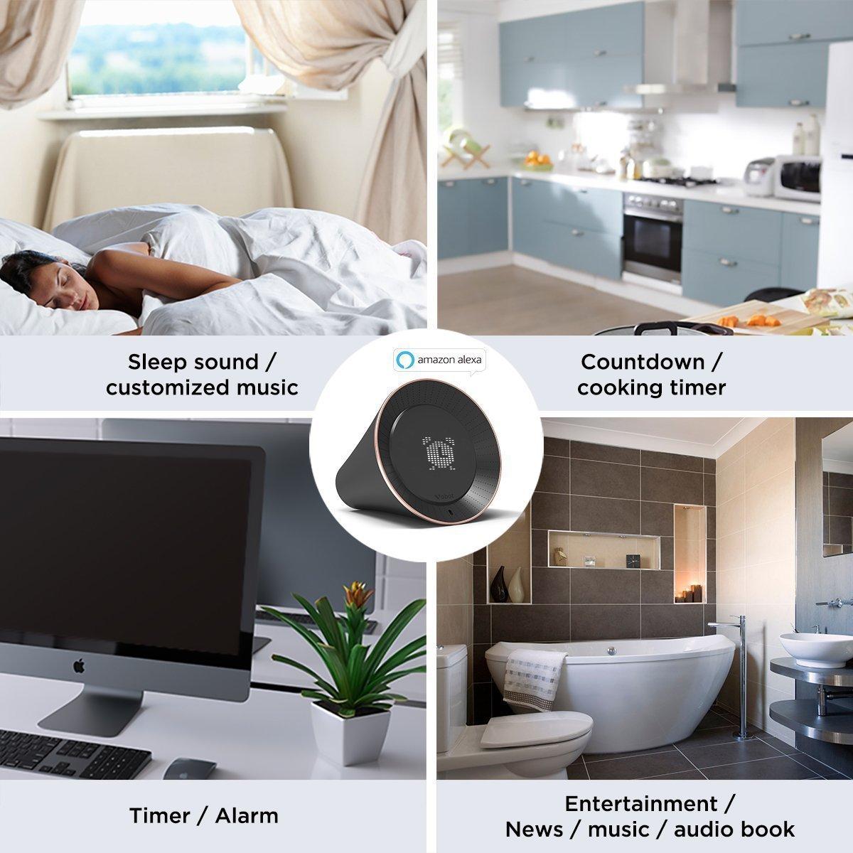 VOBOT Smart Wifi Alexa - Reloj despertador con pantalla LED ...